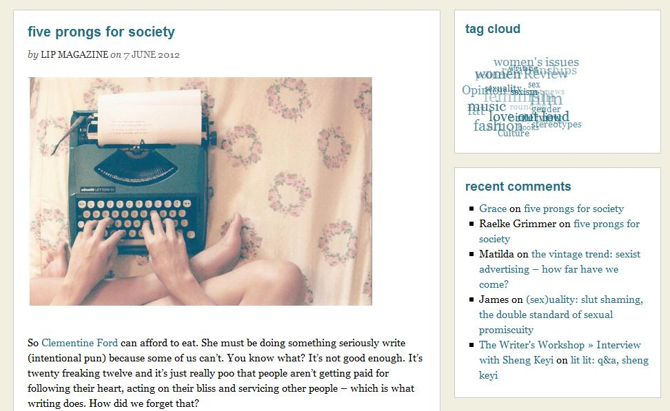copywriting services lip mag
