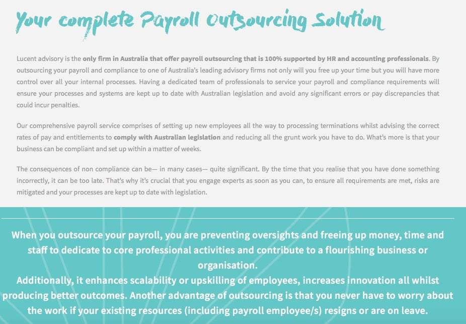 copywriting services payroll