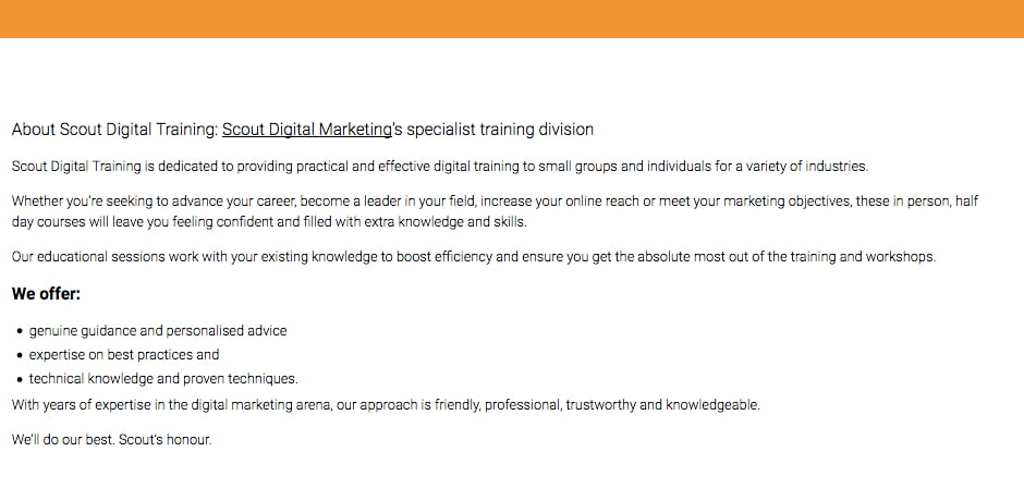 copywriting services scout digital