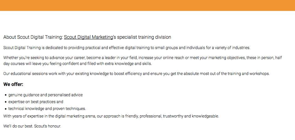 copywriting services scout digital