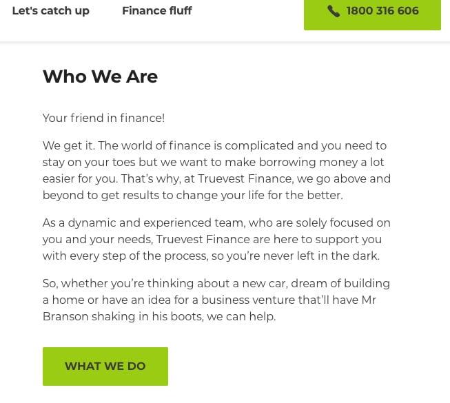 copywriting services truevest finance