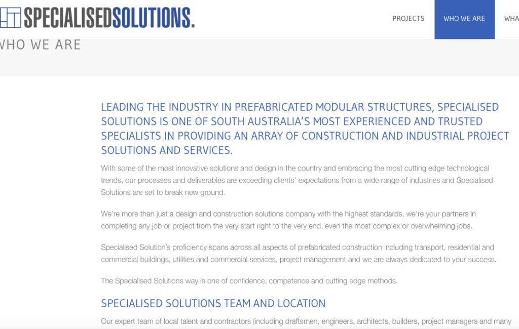 copywriting services spec sol