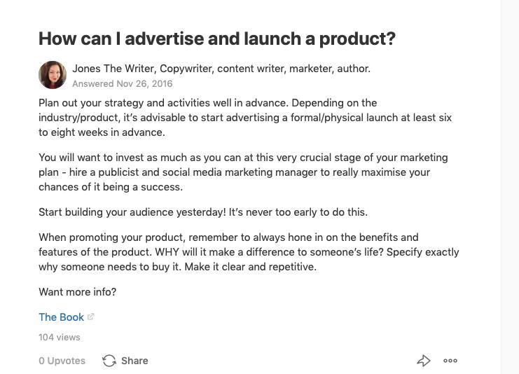 copywriter answers