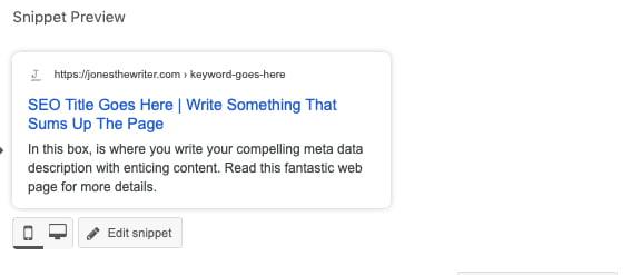 yoast plugin for meta tags snippet