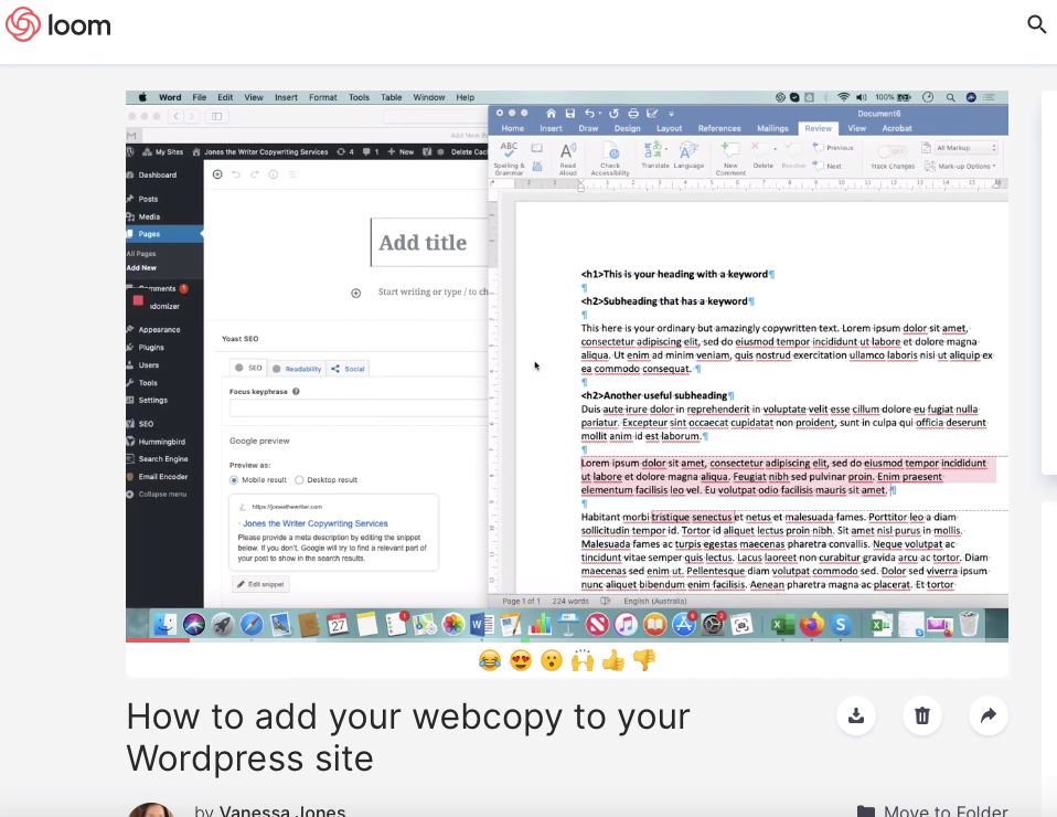 how to add web copy to your wordpress website