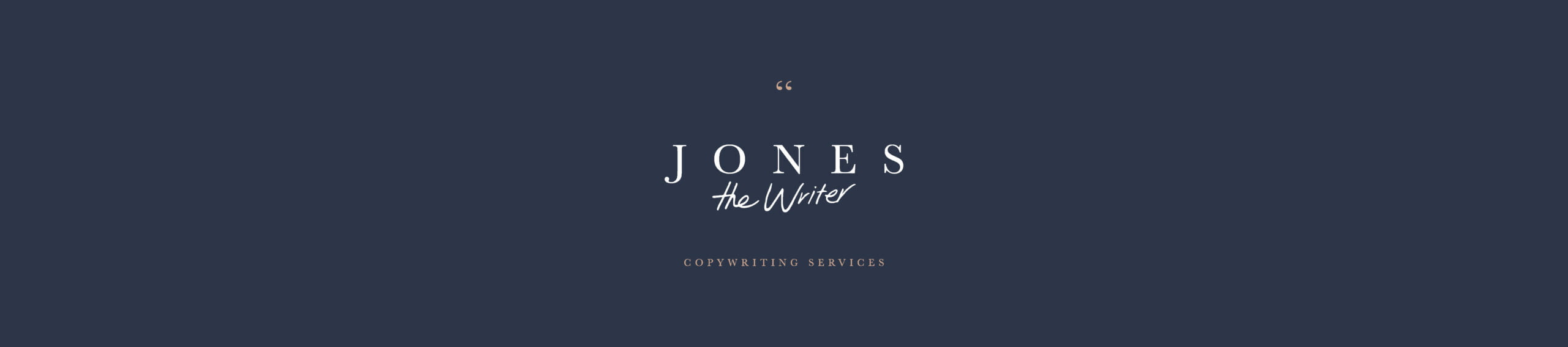 Jones the Writer Copywriting Services